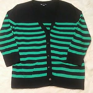 Worn 1x! Gap Stripe Sweater Cardigan Sz M